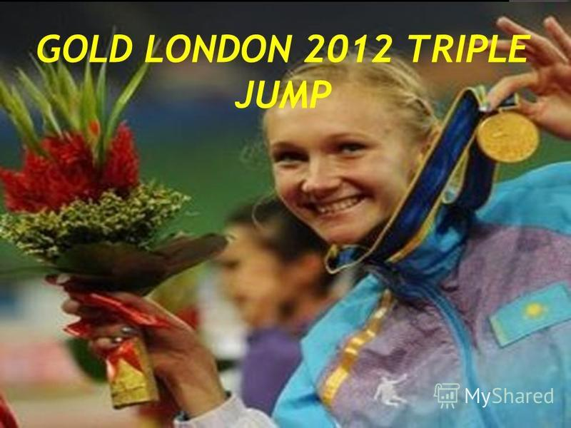 GOLD LONDON 2012 TRIPLE JUMP