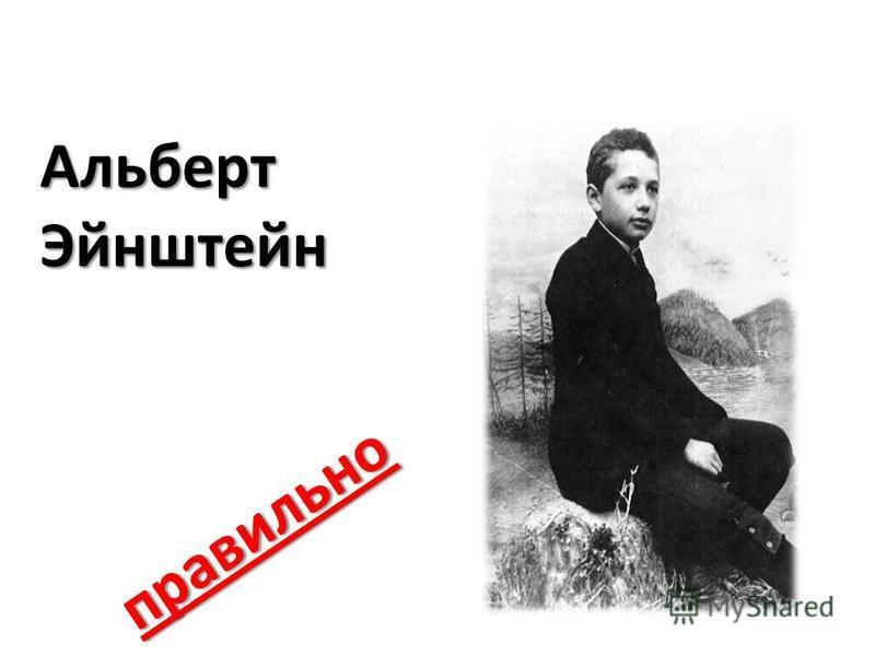 Альберт Эйнштейн правильно