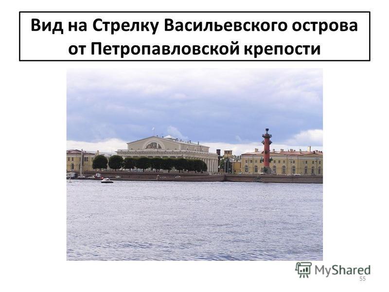 Вид на Стрелку Васильевского острова от Петропавловской крепости 55