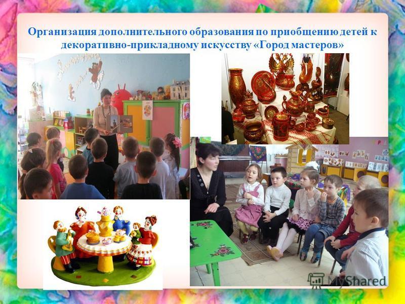 Организация дополнительного образования по приобщению детей к декоративно-прикладному искусству «Город мастеров»