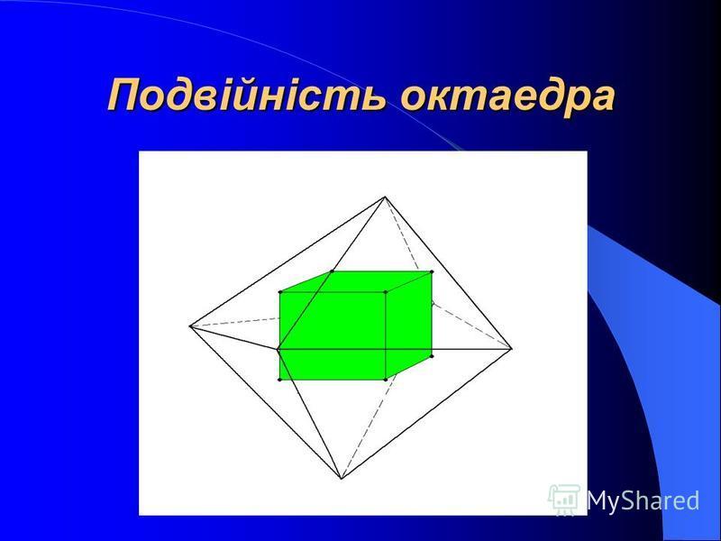 Подвійність тетраедра