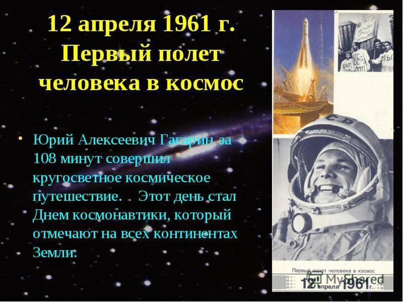 Первый полет человека в космосе