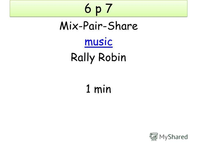 Mix-Pair-Share music Rally Robin 1 min