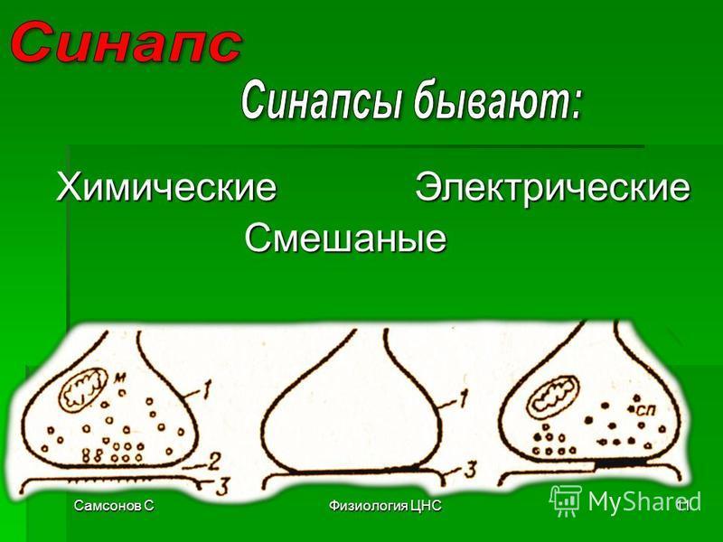 Самсонов СФизиология ЦНС11 Химические Смешаные Электрические
