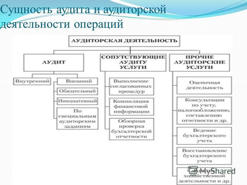 Сущность аудита и аудиторской деятельности операций