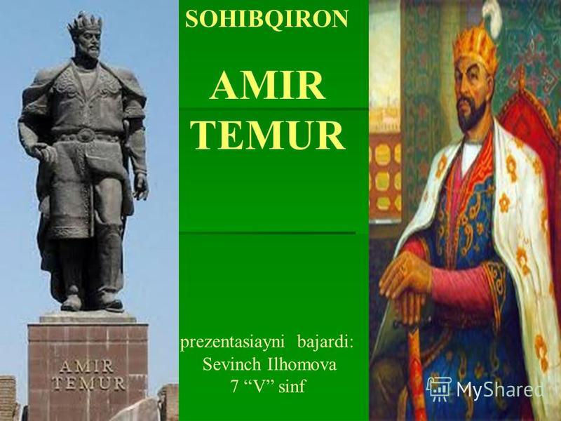 SOHIBQIRON AMIR TEMUR prezentasiayni bajardi: Sevinch Ilhomova 7 V sinf