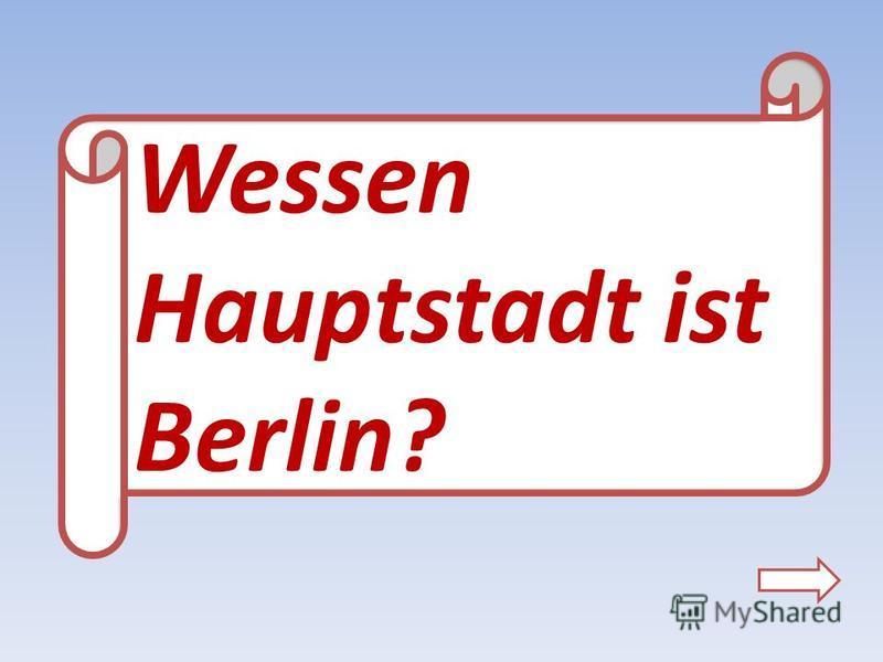 Wessen Hauptstadt ist Berlin?