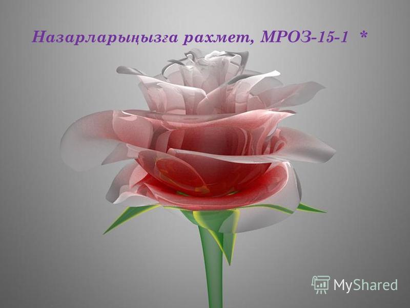 Назарлары ң ыз ғ а рахмет, МРОЗ-15-1 *
