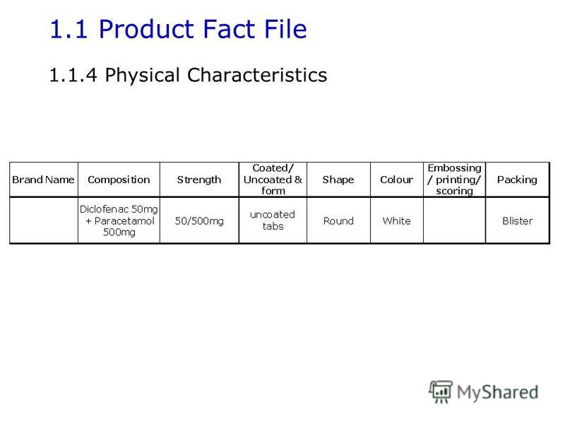 1.1 Product Fact File 1.1.4 Physical Characteristics