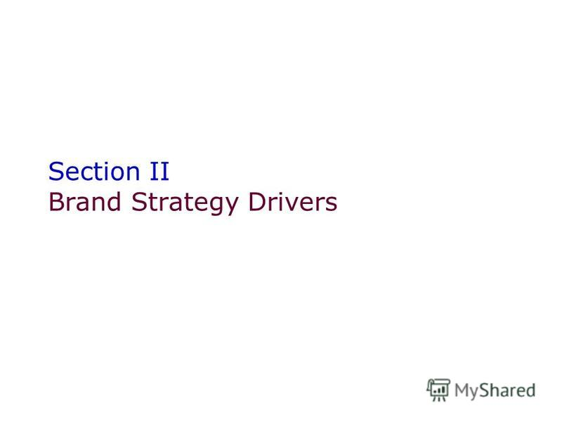 Section II Brand Strategy Drivers