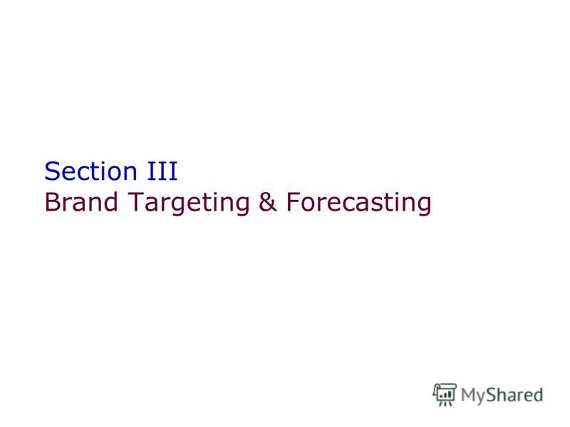 Section III Brand Targeting & Forecasting