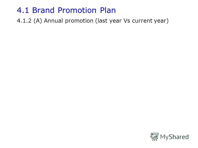 4.1.2 (A) Annual promotion (last year Vs current year)