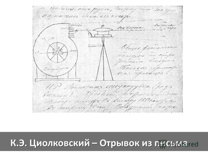 К.Э. Циолковский – Отрывок из письма
