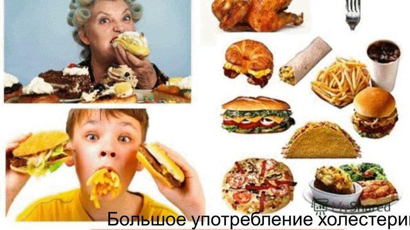 Большое употребление холестерина