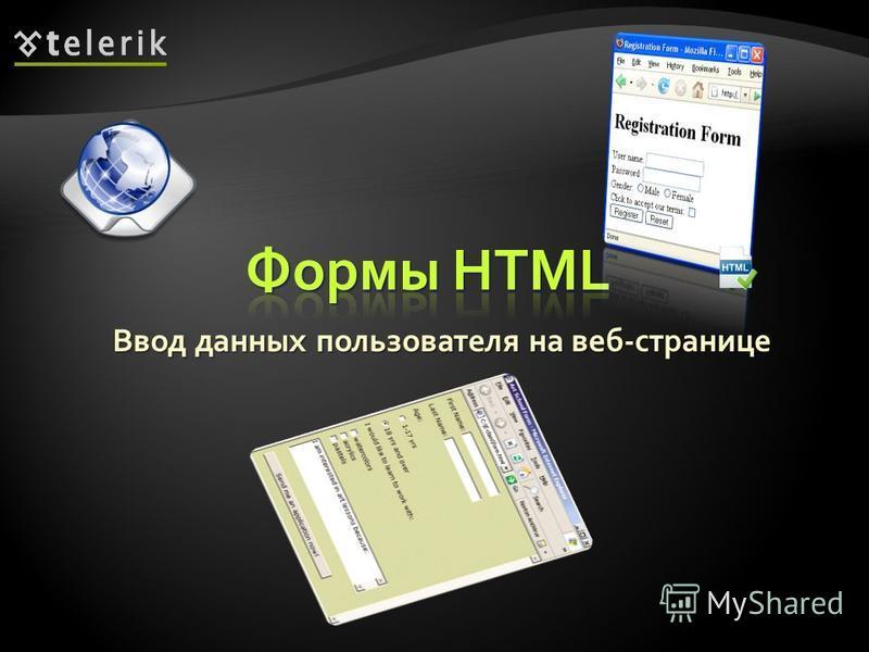 Ввод данных пользователя на веб-странице