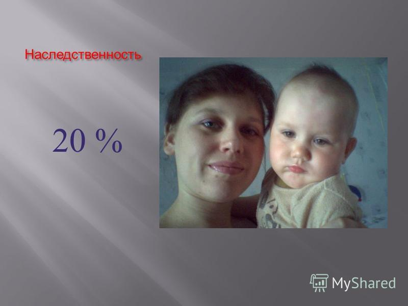 Наследственность 20 %