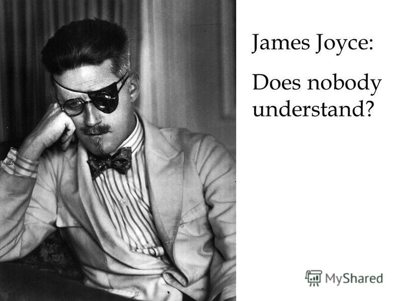 James Joyce: Does nobody understand?