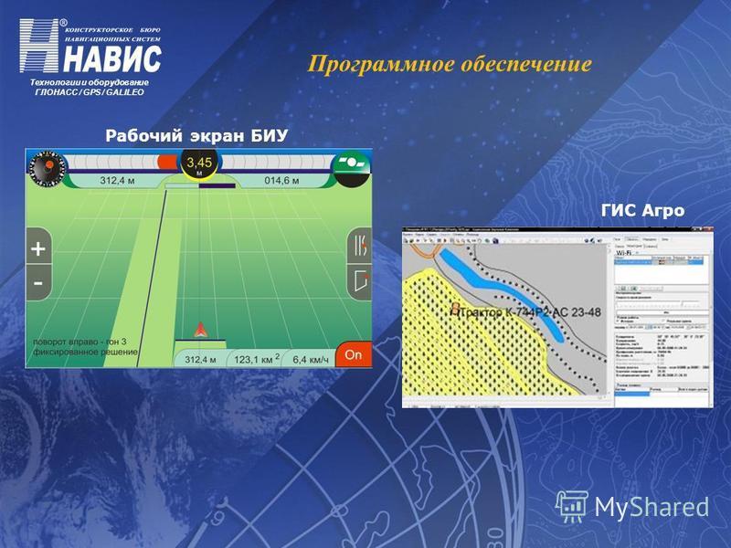 Технологии и оборудование ГЛОНАСС / GPS / GALILEO Программное обеспечение Рабочий экран БИУ ГИС Агро