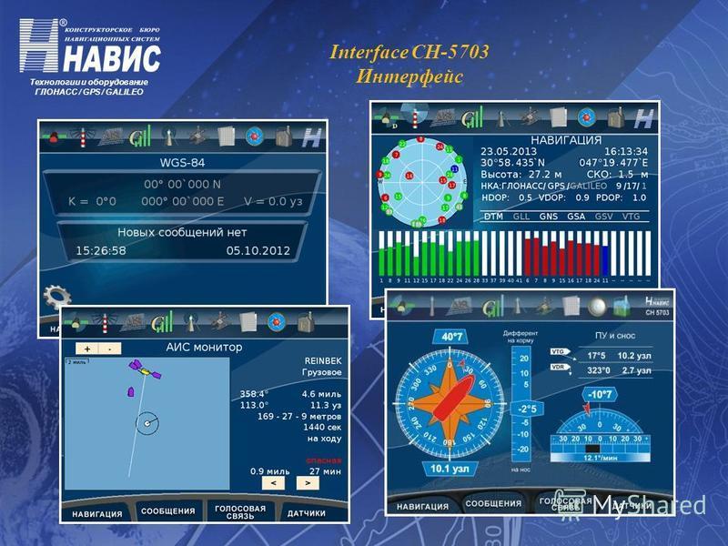 Технологии и оборудование ГЛОНАСС / GPS / GALILEO Interface CH-5703 Интерфейс