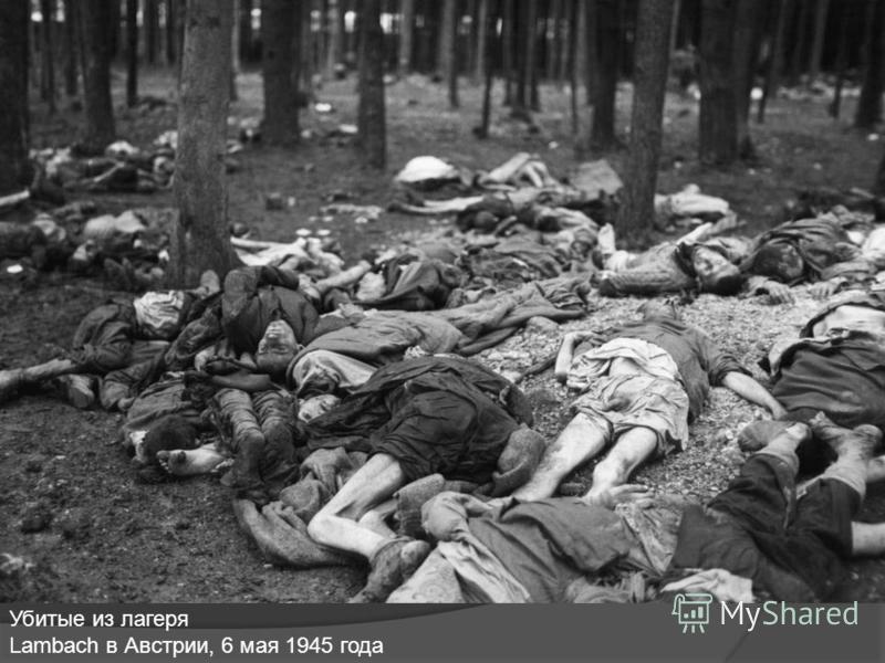 Убитые из лагеря Lambach в Австрии, 6 мая 1945 года