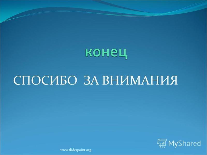 СПОСИБО ЗА ВНИМАНИЯ www.sliderpoint.org