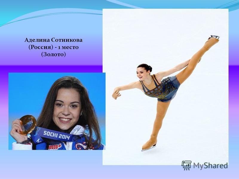 Аделина Сотникова (Россия) - 1 место (Золото)