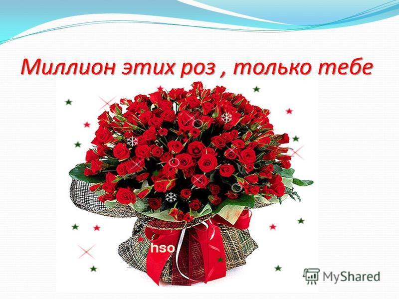 Миллион этих роз, только тебе