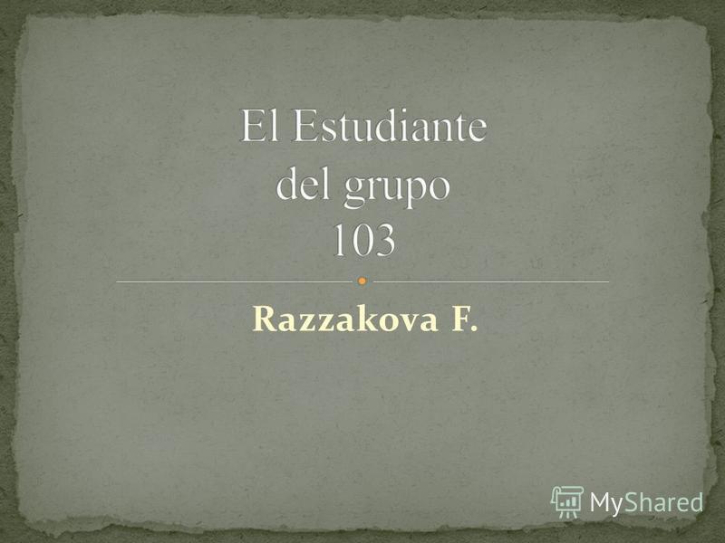 Razzakova F.