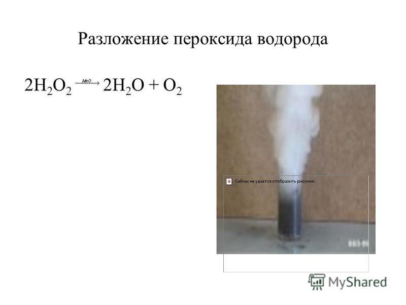 Разложение пероксида водорода 2H 2 O 2 2H 2 O + O 2