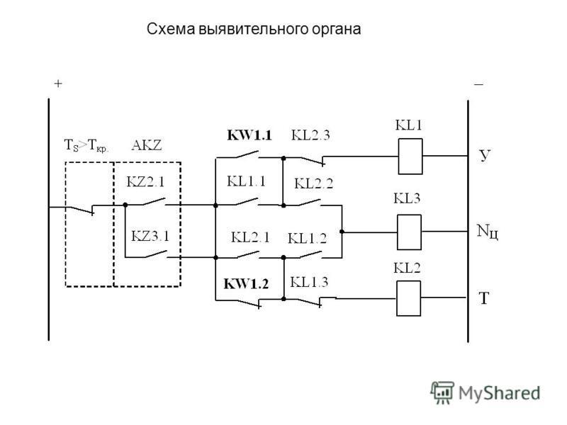 Схема выявительного органа