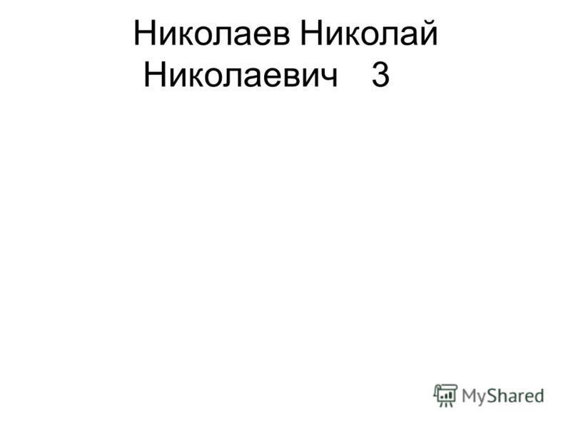 Николаев Николай Николаевич 3