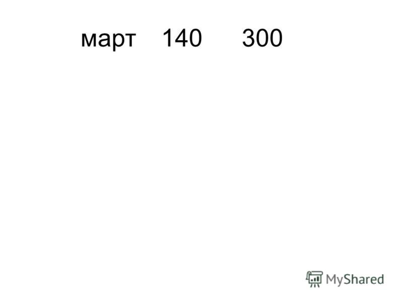 март 140300
