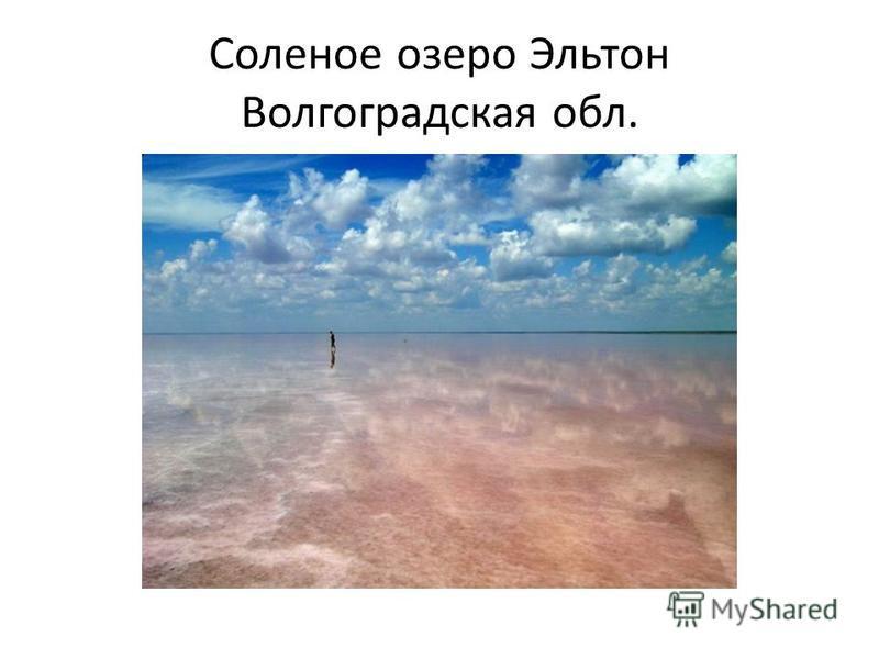 Соленое озеро Эльтон Волгоградская обл.