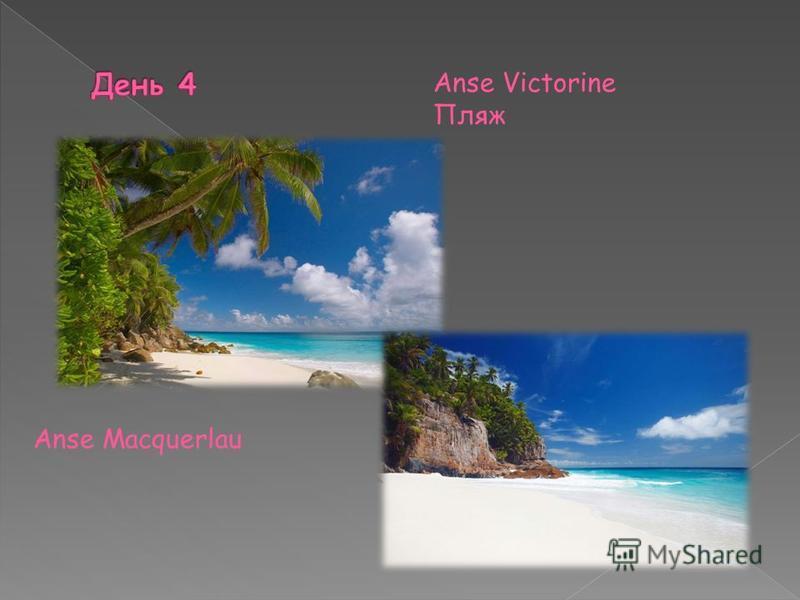 Anse Victorine Пляж Anse Macquerlau