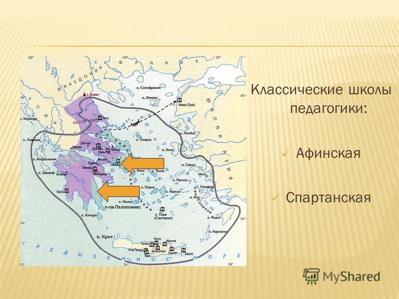 Классические школы педагогики: Афинская Спартанская