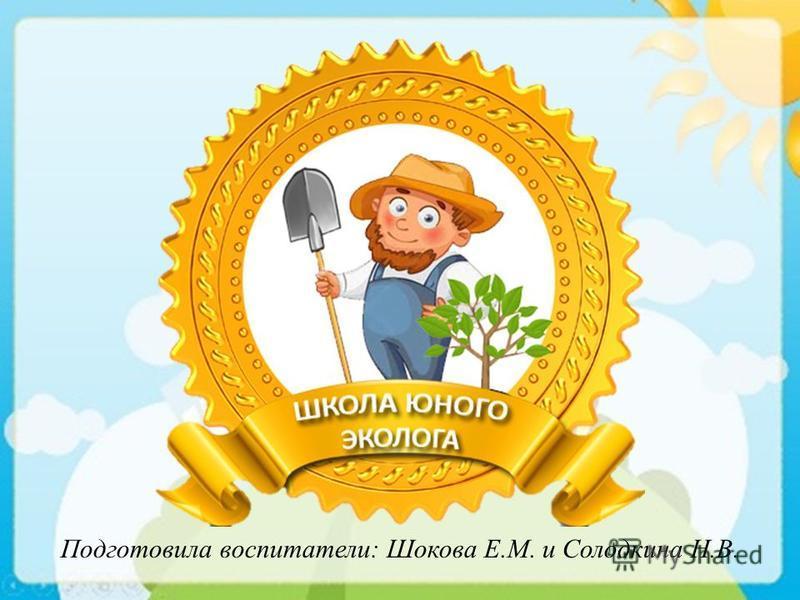 Подготовила воспитатели: Шокова Е.М. и Солодкина Н.В.