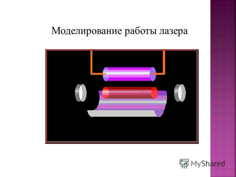 Моделирование работы лазера