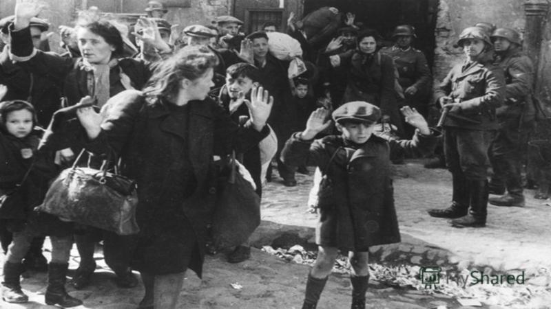 Женя видела, как 23 ноября 1941 года недалеко от города, за железной дорогой около аэродрома, немцы собрали всех евреев города и выстроили их вдоль противотанкового рва.