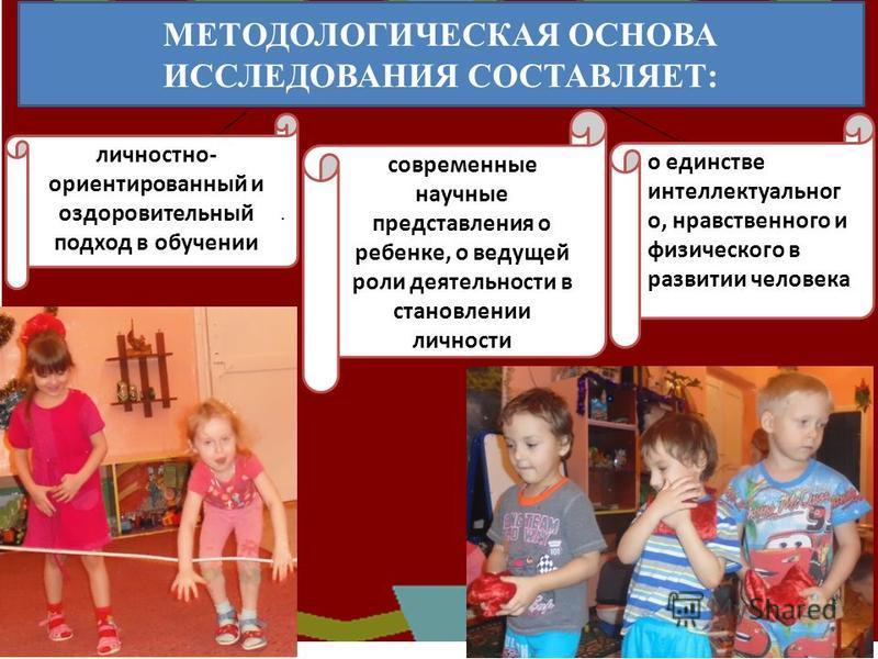 современные научные представления о ребенке, о ведущей роли деятельности в становлении личности о единстве интеллектуального, нравственного и физического в развитии человека личностно- ориентированный и оздоровительный подход в обучении. МЕТОДОЛОГИЧЕ