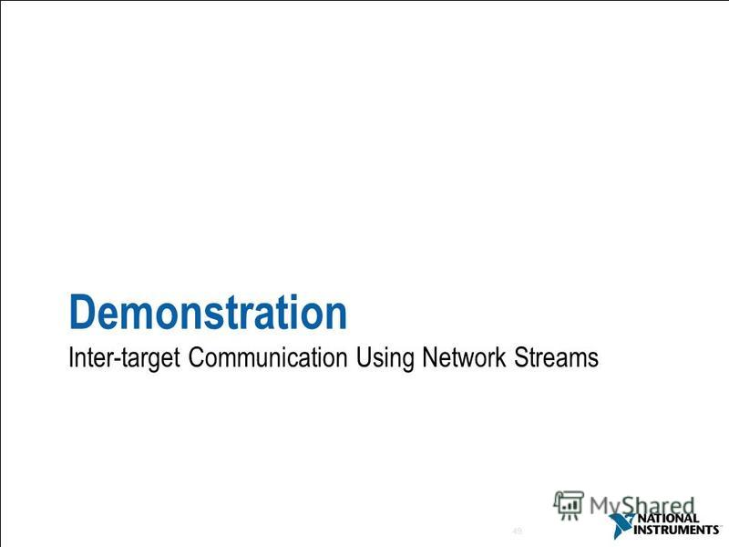 49 Demonstration Inter-target Communication Using Network Streams