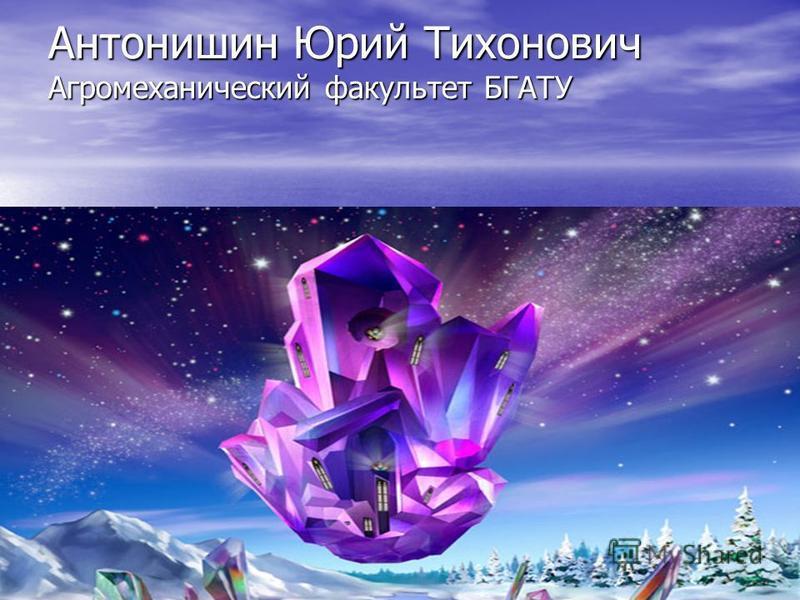 Антонишин Юрий Тихонович Агромеханический факультет БГАТУ