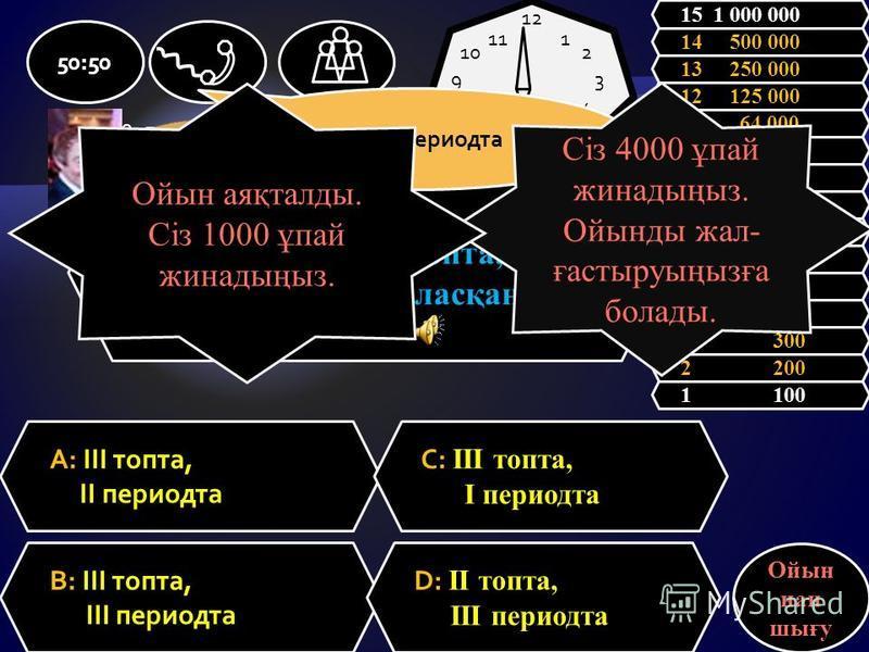 80 Br атомындағы протон мен нейтрон сандры: A: 40 протон, 40 нейтрон С: 45 протон, 35 нейтрон B: 35 протон, 45 нейтрон D: 30 протон, 50 нейтрон 50:50 1 100 2 200 3 300 4 500 5 1 000 6 2 000 7 4 000 8 8 000 9 16 000 10 32 000 11 64 000 12 125 000 13 2