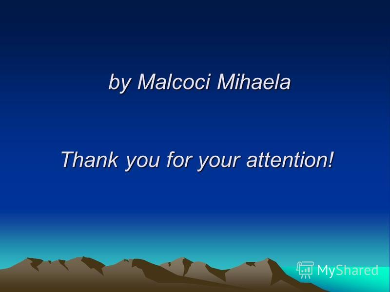 by Malcoci Mihaela Thank you for your attention!