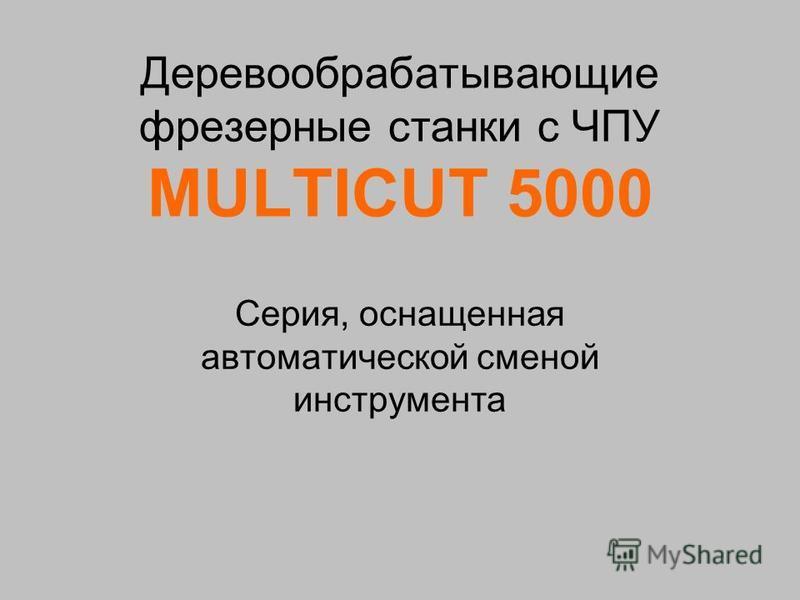 Деревообрабатывающие фрезерные станки с ЧПУ MULTICUT 5000 Cерия, оснащенная автоматической сменой инструмента