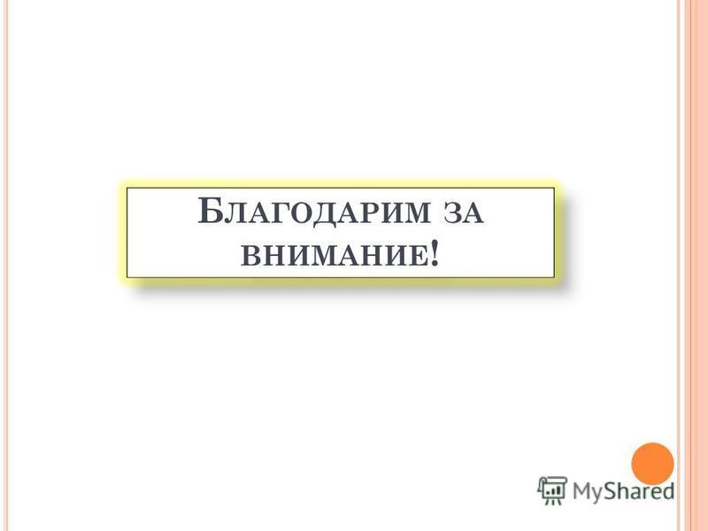 Б ЛАГОДАРИМ ЗА ВНИМАНИЕ !