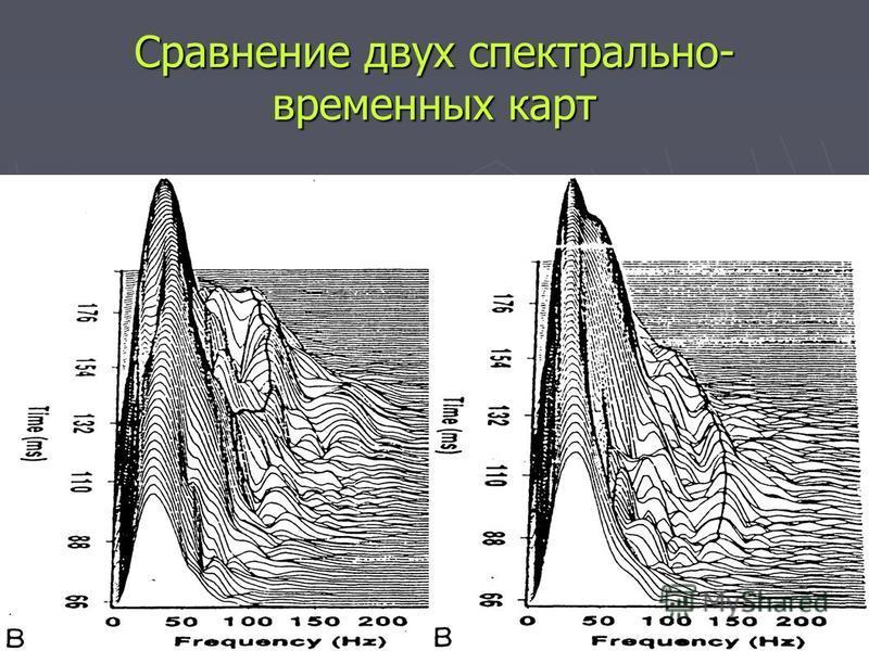 Сравнение двух спектрально- временных карт