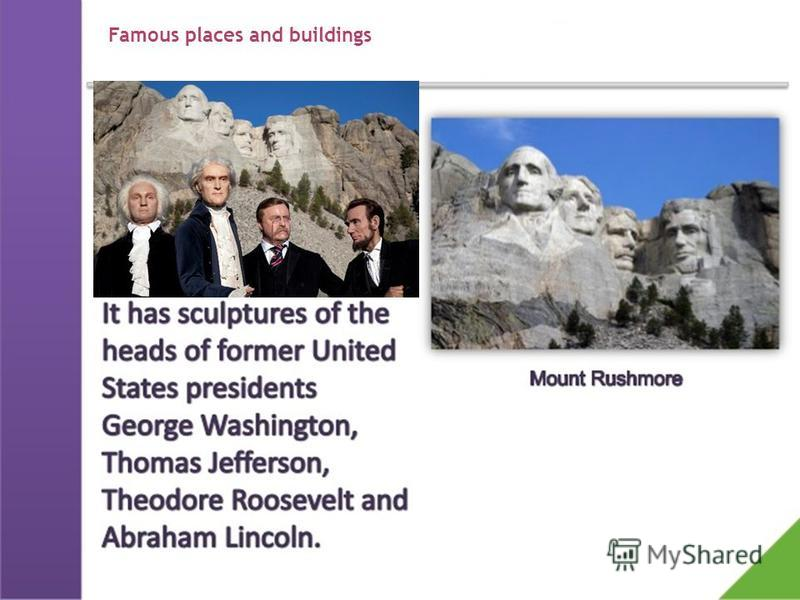 Famous places and buildings