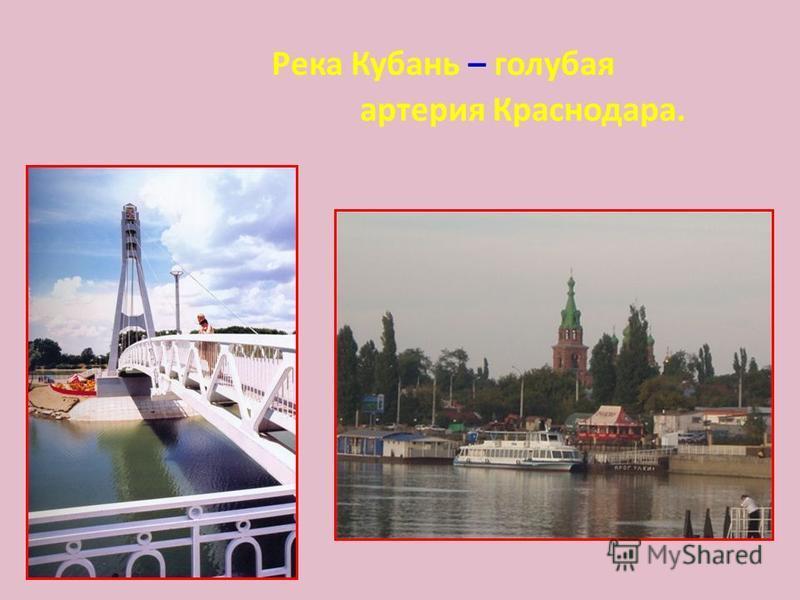 Река Кубань – голубая артерия Краснодара.