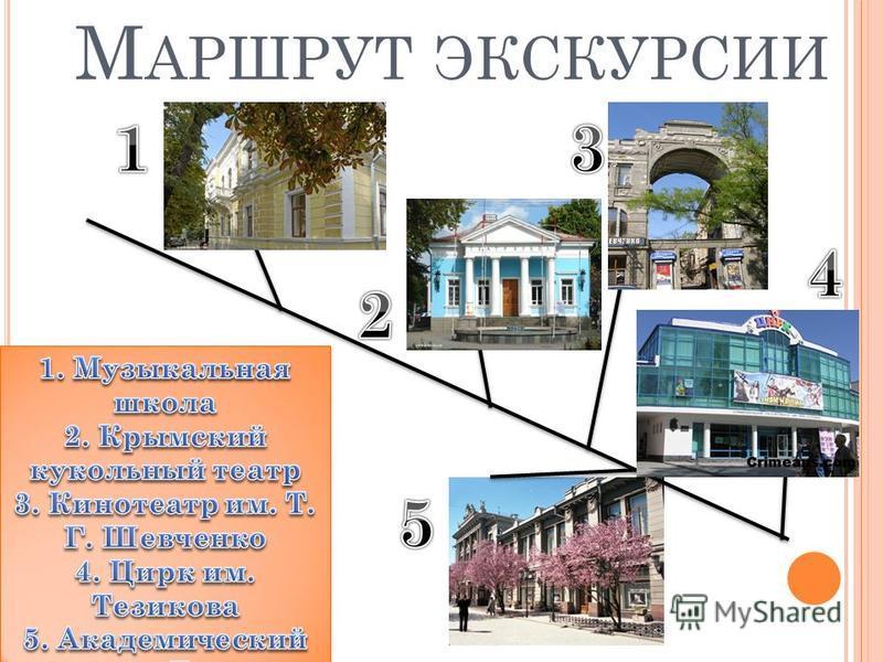 М АРШРУТ ЭКСКУРСИИ