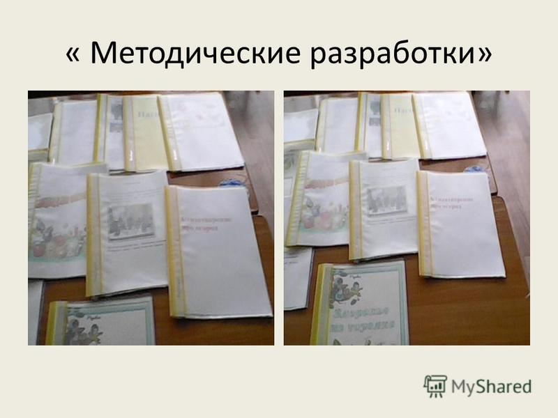 « Методические разработки»